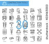 construction tools     thin... | Shutterstock .eps vector #403465003