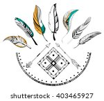Tribal Boho Style Arrow And...