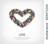 love people crowd | Shutterstock .eps vector #403471243