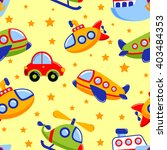 childish seamless pattern with... | Shutterstock .eps vector #403484353