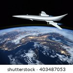 the concept of a futuristic... | Shutterstock . vector #403487053