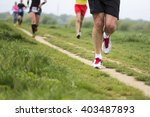 outdoor marathon cross country... | Shutterstock . vector #403487893