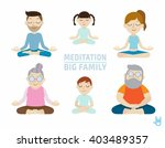meditation. people character... | Shutterstock .eps vector #403489357