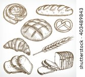 bread sketches  hand drawing ...   Shutterstock .eps vector #403489843