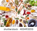 various herbs  spices and... | Shutterstock . vector #403493353