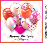 birthday card with colorful... | Shutterstock .eps vector #403503697