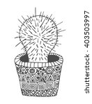 cactus desert zentangle plant... | Shutterstock .eps vector #403503997