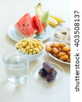assorted fasting food during...   Shutterstock . vector #403508137