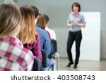 large group of students from... | Shutterstock . vector #403508743