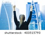 business success   celebrating... | Shutterstock . vector #403515793