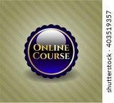 online course golden badge   Shutterstock .eps vector #403519357