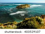the great and pacific ocean in... | Shutterstock . vector #403529107