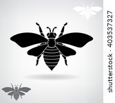 black silhouette of the bee.  | Shutterstock .eps vector #403537327