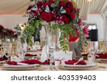 table setting at a luxury...   Shutterstock . vector #403539403