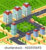 city illustration with urban... | Shutterstock .eps vector #403555693