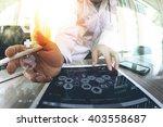 medicine doctor hand working... | Shutterstock . vector #403558687