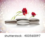 spa flowers with water and... | Shutterstock . vector #403560097