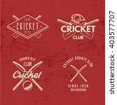 set of retro cricket club... | Shutterstock .eps vector #403577707