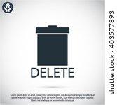 trash icon   Shutterstock .eps vector #403577893