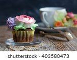 Chocolate Cupcake With Spring...
