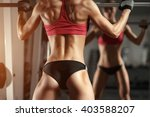 beautiful fitness sexy woman... | Shutterstock . vector #403588207