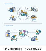 web design  blogging icons... | Shutterstock .eps vector #403588213