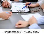 close up of business people at... | Shutterstock . vector #403595857