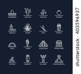 mexican culture icons set. the... | Shutterstock .eps vector #403596937