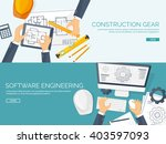 engineering and architecture... | Shutterstock .eps vector #403597093