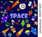 space line art design vector... | Shutterstock .eps vector #403597693
