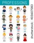 big set of cartoon vector... | Shutterstock .eps vector #403607083