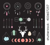 set boho ethnic elements for...   Shutterstock .eps vector #403607257