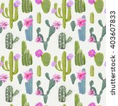 Vector Cactus Background....