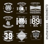 new york city typography set  t ... | Shutterstock .eps vector #403608073