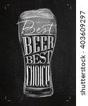 poster glass lettering best...   Shutterstock . vector #403609297