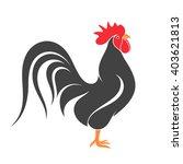 black chicken. isolated bird on ... | Shutterstock .eps vector #403621813