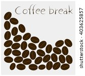 vector coffee beans on white... | Shutterstock .eps vector #403625857