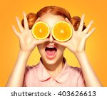 beauty model girl takes juicy... | Shutterstock . vector #403626613