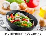 healthy vegetable salad made of ... | Shutterstock . vector #403628443