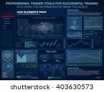 hud ui ux for trading business... | Shutterstock .eps vector #403630573