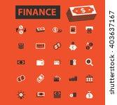finance icons  | Shutterstock .eps vector #403637167