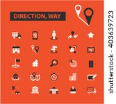 direction way icons  | Shutterstock .eps vector #403639723