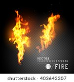 flames with sparks. vector... | Shutterstock .eps vector #403642207