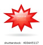 red bursting text star vector... | Shutterstock .eps vector #403645117