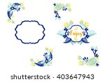 amazing set of vector templates ... | Shutterstock .eps vector #403647943