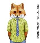 Portrait Of Fox In  Summer...