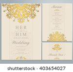 wedding invitation or card with ... | Shutterstock .eps vector #403654027