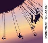 carousel ride silhouette.vector ... | Shutterstock .eps vector #403655587
