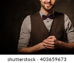 young handsome old fashioned ... | Shutterstock . vector #403659673