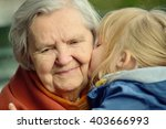 grandmother and granddaughter....   Shutterstock . vector #403666993